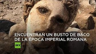 Encuentran un busto del dios Baco de 2.000 años de antigüedad en Roma