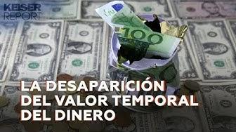 La desaparición del valor temporal del dinero
