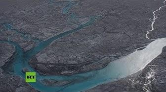 El hielo de Groenlandia se derrite por la ola de calor