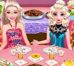 Elsa And Barbie Buffet Date