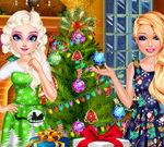 Elsa And Barbie's Christmas Eve
